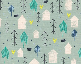 Free Shipping - Neighbor in Mint Green - Cozy Collection by Cotton+Steel Fabrics