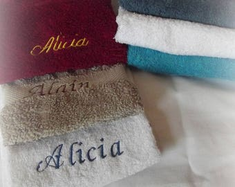 Towels towel personalized with a name