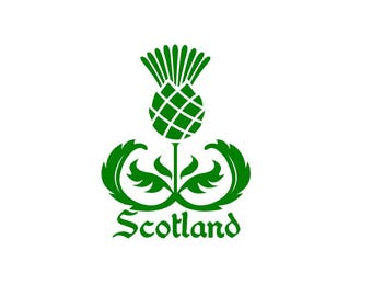 Scottish thistle Scotland thistle decal car decal Scottish decal Celtic Decal Gaelic Decal Highlander Decal Thistle decal window decal