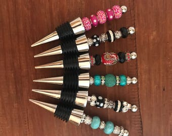 Beaded Wine Stopper Wine Gift under 25 Wedding Gift Wine Tasting Party Favor Cork Bar Tools Hostess Mom Sister Friend Mothers Day Gift Ideas