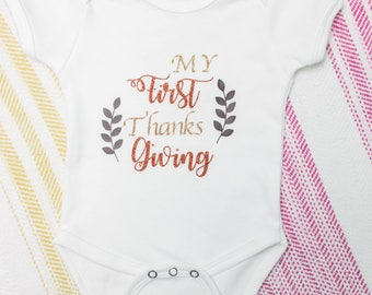 Thanksgiving Baby, First Thanksgiving, , Personalized Baby, Personalized, Baby, Thanksgiving, Babys First