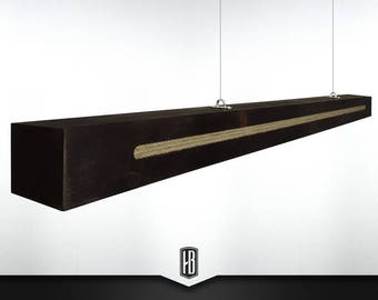 Rope pendant lamp from 150 cm solid wood