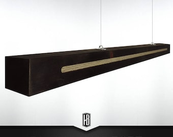 Rope pendant lamp made of 150cm solid wood