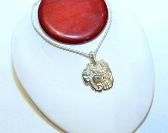 Sapphire Jesus pendant