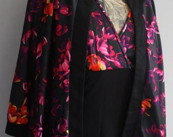 Vtg 70's Floral Maxi Dress and Jacket