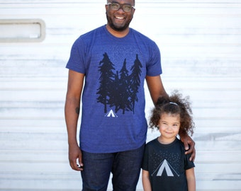Matching Shirts Father Son, Birthday Gift for Dad From Daughter From Son, Father Daughter Gift, New Dad Gift, Wanderlust Camping T Shirt Set