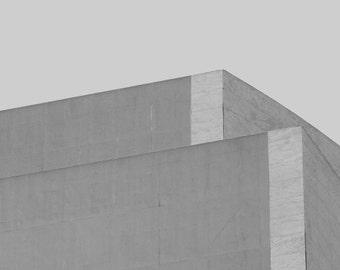 Minimalist black and white | Digital download | brutalist art print | architecture photo print | modern office decor | instant minimal art