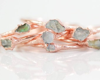 Raw / Opal Stacking Rings / Valentines Gift / Stacking Rings / Raw Ethiopian Opal / Boho Chic / Bohemian Rings / Stack Rings / October Opal