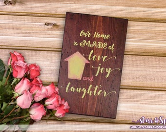 Distressed Hand Painted Our Home Wood Signs for Home Decor, Accents, Displays, Furniture, Outdoor Porch