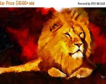 Lion Painting lion art lion lion print animal art lion wall art lion decor nursery art african art animal painting art lion art print poster