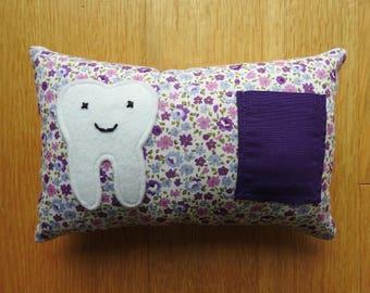 Tooth Fairy Pillow, Tooth Fairy Cushion, Tooth Pillow, Tooth Cushion. Handmade