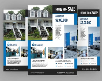 Printable Real Estate Flyer Template , Relator Flyer | Photoshop Template | Instate Download