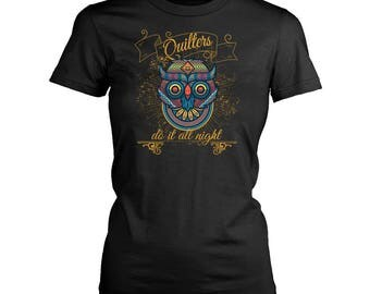 Quilting womens fit T-Shirt. Funny Quilting shirt.