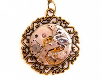 Steampunk Swan necklace