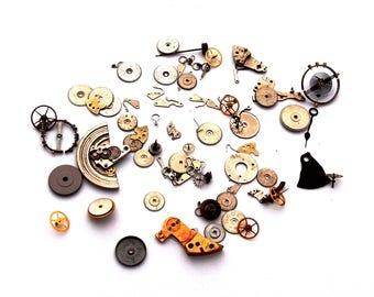 Watch clock gear COG drive mechanism piece set is steampunk