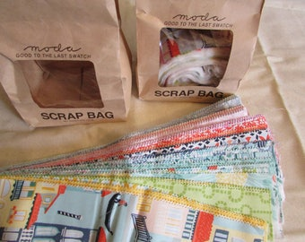 Moda Scrap Bags - Grand Canal by Kate Spain for Moda, 100% cotton quilting fabric, pre-cut