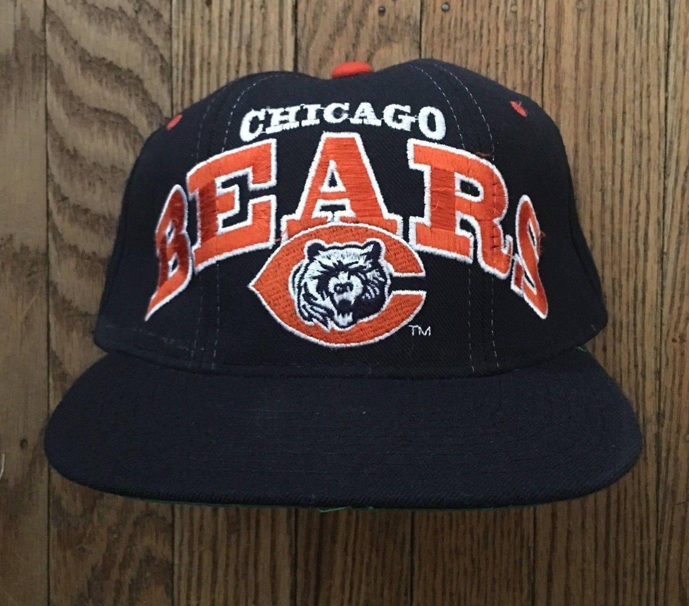 3b48e2adcea Vintage 90s Starter Chicago Bears NFL Snapback Hat Baseball Cap ...