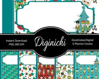 Nutcracker Christmas - Digital Covers for Goodnotes Digital Planners and Journals - PNG & Printable