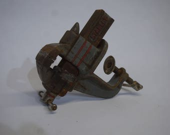 Art Deco Style Vintage Stanley Anvil Vise, Bench Vice, Clamping, Workshop, Tool, Shabby Chic