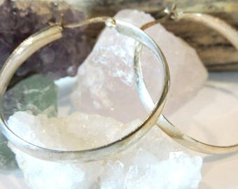 Hoop Earrings Sterling Silver Medium