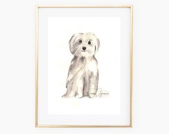 Custom pet portrait,Dog lover gift,Pet Art Illustration,Dog Portrait,Custom pet painting,dog watercolor,dog portrait artist