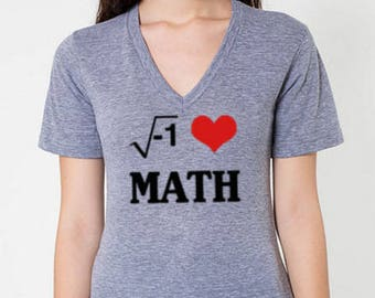 I HEART MATH Ladies V-neck Tee