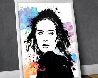 Adele - Adele Art - Adele Poster - Adele Print - Personalities Portraits - Wall Art Prints