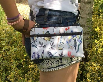 Waterproof Wild Floral Fanny Pack, Waterproof Crossbody Bag, Mini Festival Bag, Boho Utility Bag, Hip Bum Bag, Vegan Floral Bag, Gift idea