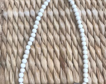 Wood and bead necklaces