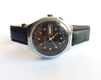 Rare Collectible Raketa Time Zone Calculator Soviet Watch- mens watch, gmt watch, raketa watch, pilot watch, wrist watch, vintage ussr watch