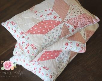 pillow vintage quilt newborn