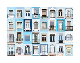 Print: Windows of the World - Lisbon in Blue