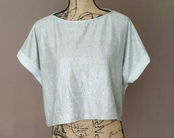 Sale! Heather Grey Sparkle Crop Top