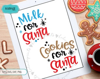 cookies and milk for Santa svg, milk for santa, cookies for santa svg, santa plate santa svg, svg, santa cam cut file cr15