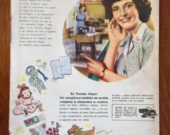 "Sewing machine ""SINGER"" ad (1947)"