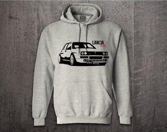 LANCIA DELTA Hoodie, Cars hoodies, Lancia Delta HF sweater, Classic car hoodies, funny hoodies, Cars t shirts, Lancia shirts, car t shirt