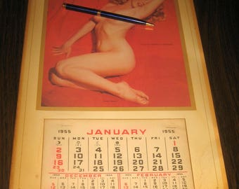 Vintage 1955 Marilyn Monroe Calendar from an estate sale
