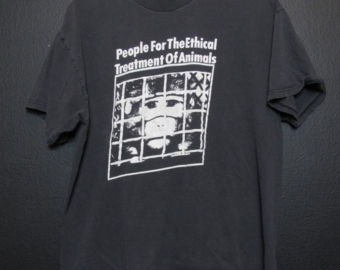 Vegan PETA People for the Ethical Treatment of Animals 1990's Vintage Tshirt