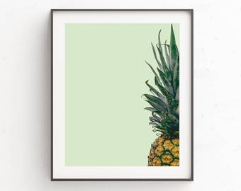 Pineapple Print, Pineapple Decor, Kitchen Decor, Wall Print Pineapple, Tropical Prints, Art Print, Digital Downloads, Pineapple Poster, Art