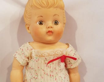 Vintage 1950s Rubber Doll Squeaky Toy Ruth E Newton Sun Rubber Company