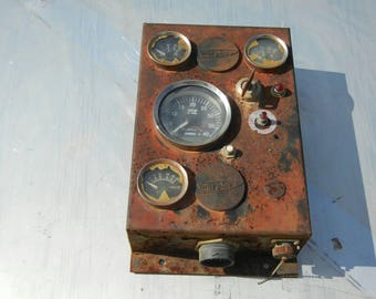 Steampunk gauge electrical box