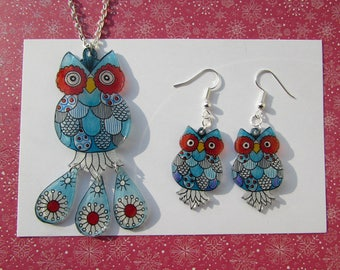 light blue owls ornaments