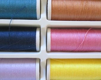 set of 30 colors sewing thread spools