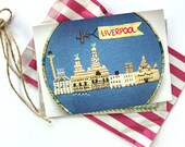 """Liverpool Waterfront // Postcard Print // From Original Embroidery // 6""""x4"""""""