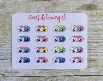 Kawaii Pills Small Sampler Planner Stickers Set