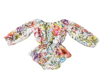 Baby Playsuit / Romper - READY TO SHIP by Running from Butterflies