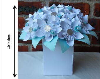Paper Flower / Paper Kusudama Flower / Paper Flower Centerpiece / Wedding Centerpiece
