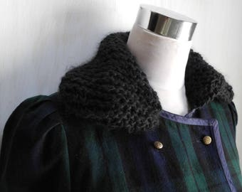 Vintage Woolen Blazer with hand knitted collar