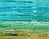SALE! Batik Textiles 'Aqua Ombre' Batik Fabric By The Yard; Down Under Collection, 4031
