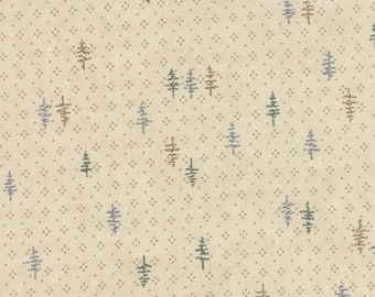 Moda TOWN SQUARE Quilt Fabric 1/2 Yard By Holly Taylor - Chino 6635 12